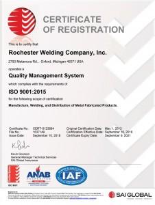 RWCI ISO 9001 2015 cert