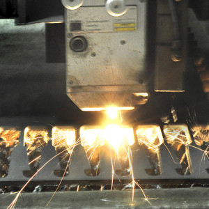 Rochester Welding's laser cutting equipment makes high-precision cuts up to 1-inch thick, depending on the alloy.